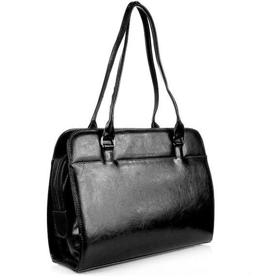 DAN-A T144 czarna torebka skórzana damska klasyczna