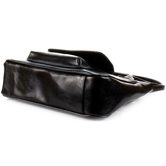 DAN-A T160 czarna torebka skórzana damska