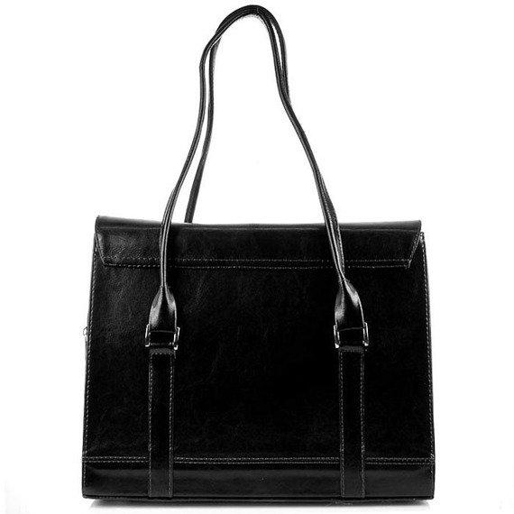 DAN-A T176 czarna torebka skórzana damska