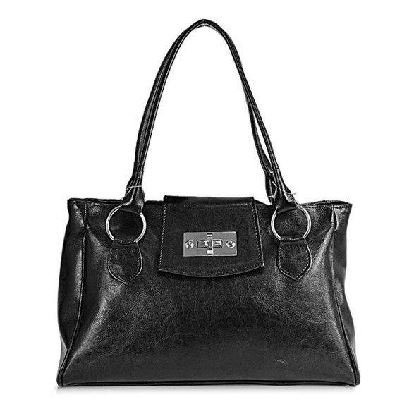 DAN-A T197 czarna torebka skórzana damska kuferek