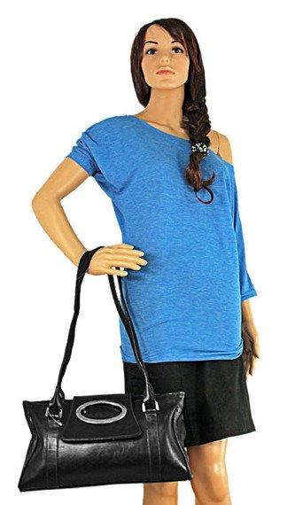 DAN-A T23 czarna torebka skórzana damska