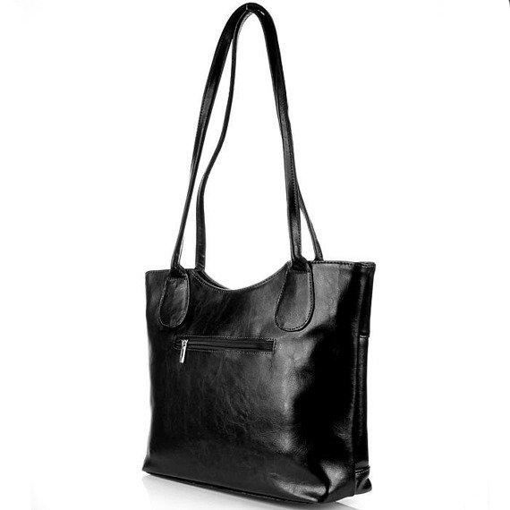 DAN-A T235 torebka skórzana damska czarna
