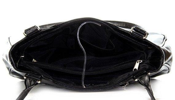 Torebka skórzana damska DAN-A T26 czarna