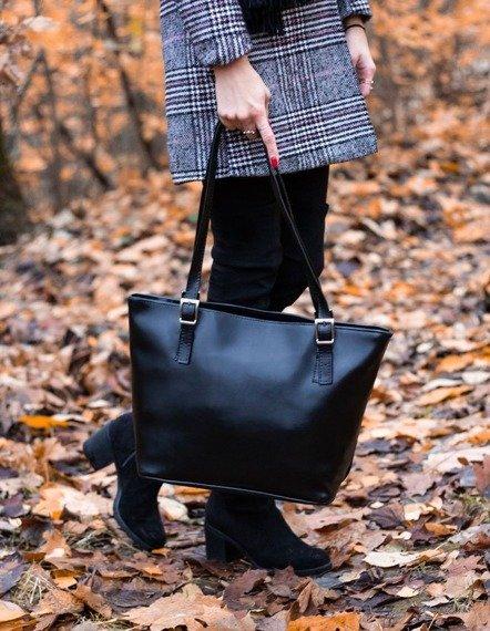 DAN-A T273 czarna torebka skórzana damska elegancka