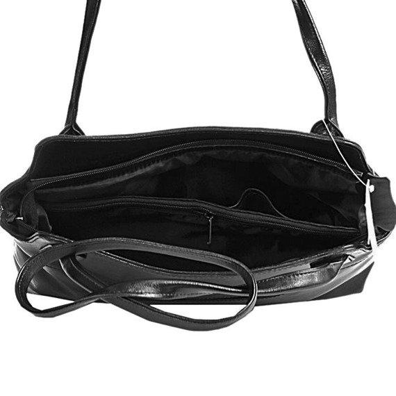 DAN-A T52 czarna torebka skórzana damska