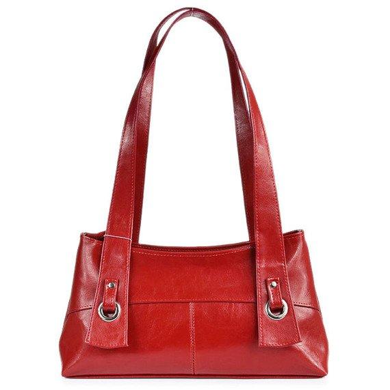 DAN-A T6 czerwona torebka skórzana damska