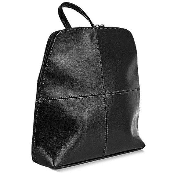 DAN-A T65 czarny plecak skórzany damski