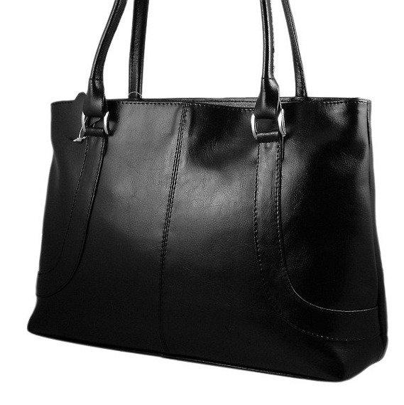 DAN-A T77A czarna torebka skórzana damska