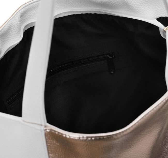 Duża torebka biało-złota  Badura TD_204BIA/ZL_CD