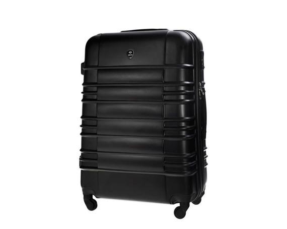 Duża walizka podróżna STL838 czarna