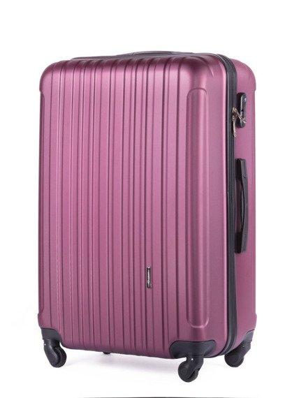 Duża walizka podróżna na kółkach SOLIER STL2011 L ABS bordowa