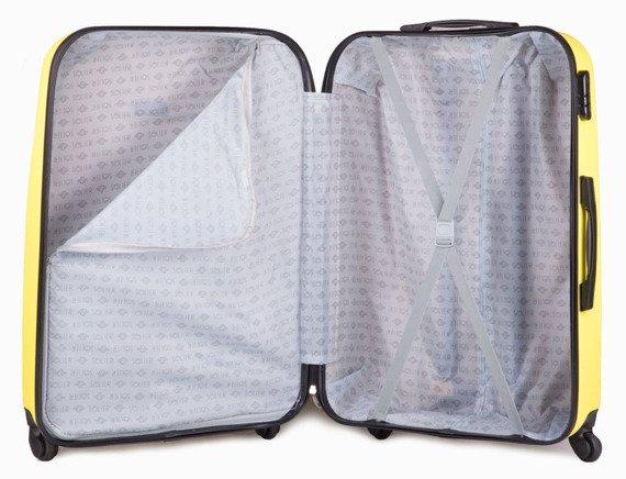 Duża walizka podróżna na kółkach SOLIER STL310 L ABS zółta