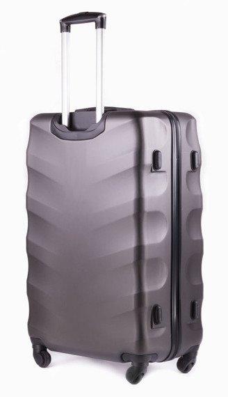Duża walizka podróżna na kółkach SOLIER STL402 ABS L ciemnoszara
