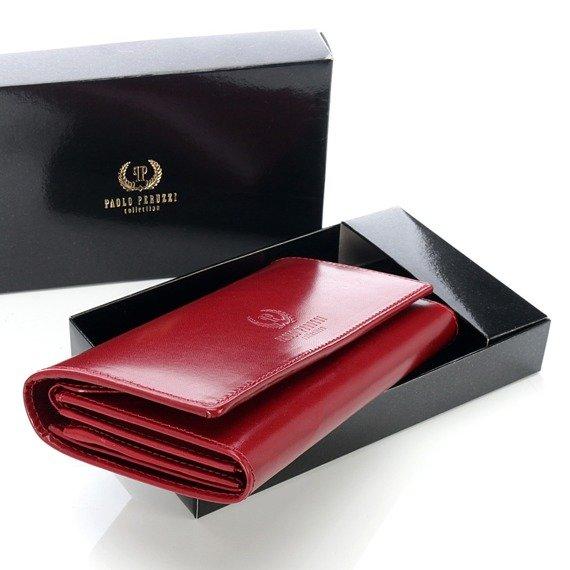 Ekskluzywny skórzany portfel damski w pudełku GA39