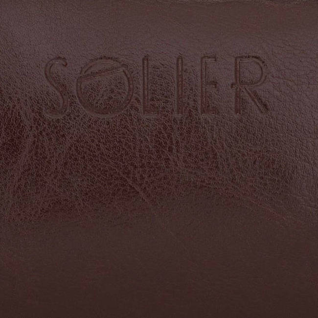 Elegancka skórzana kosmetyczka męska Solier burgundowa