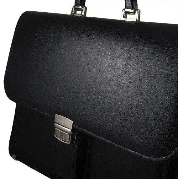 Elegancka teczka biznesowa ze skóry ekologicznej D900
