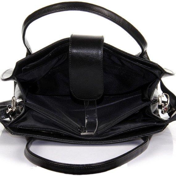 Elegancki kuferek ze skóry naturalnej DAN-A T256 czarny
