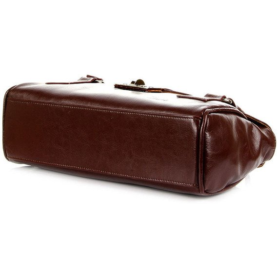 Elegancki kuferek ze skóry naturalnej DAN-A T274 koniakowy