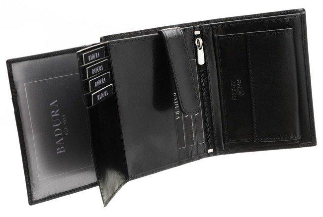 Elegancki portfel czarny Badura N104 VT