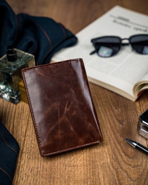 Elegancki portfel męski brązowy Buffalo Wild N4-BW