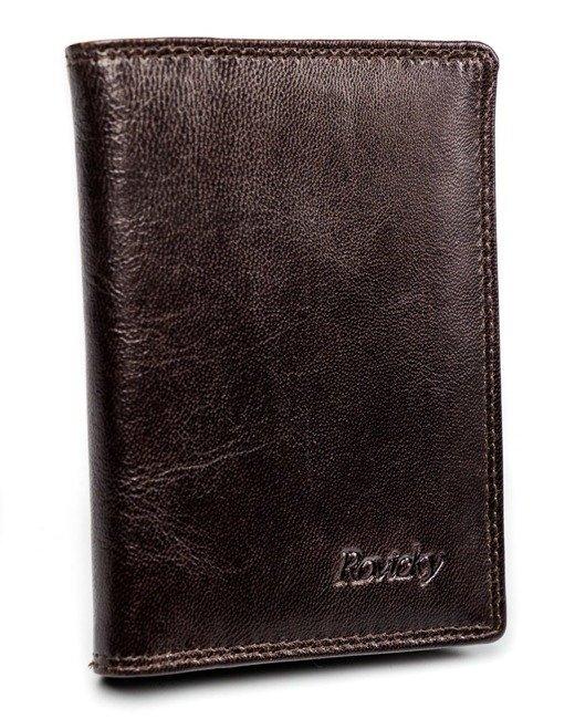 Etui na karty brązowe  Rovicky N1912-RVTK BROWN