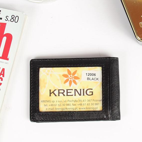 KRENIG Classic 12006 czarne skórzane etui na karty