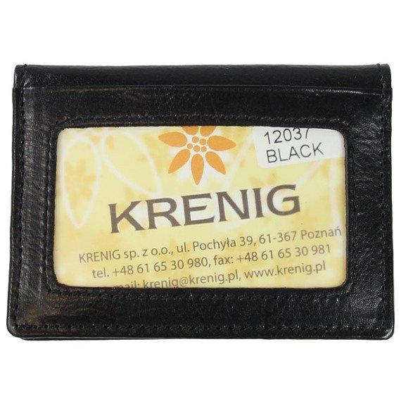 KRENIG Classic 12037 czarne skórzane etui na karty