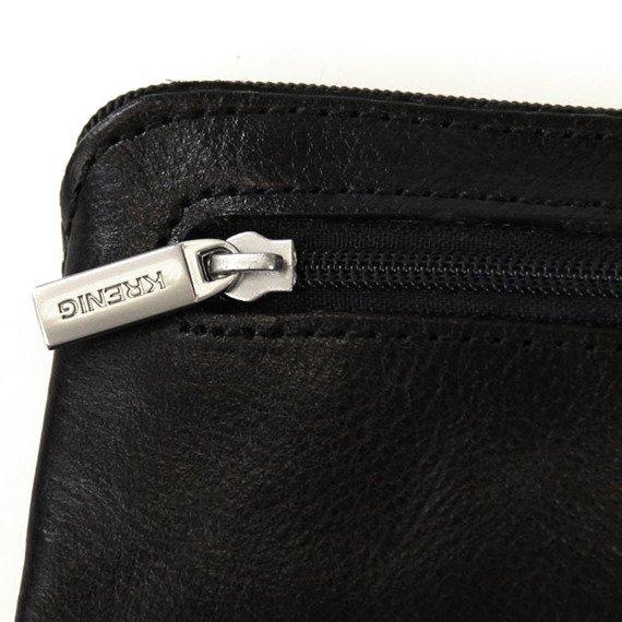 KRENIG Classic 12097 czarne skórzane etui na klucze