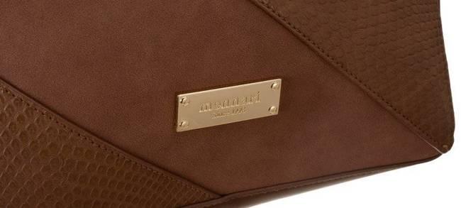 Klasyczna torebka skóra węża A4 Monnari brąz 6000