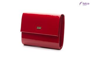 Kopertówka damska Felice F14 LAKIER czerwona