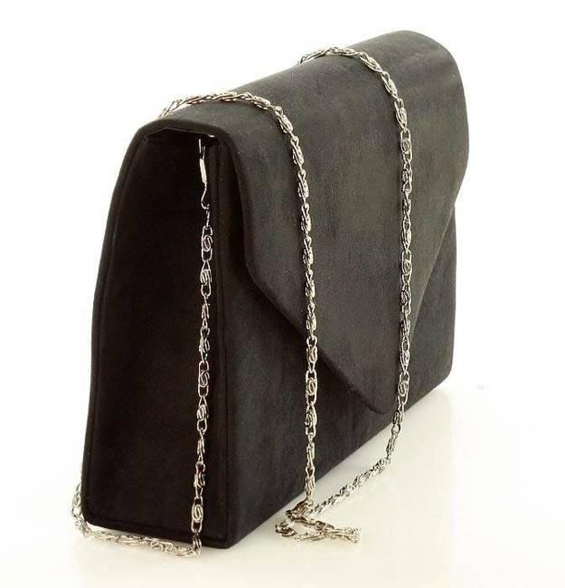 Kopertówka stylowa PAOLO BAGS czarny matowy kpr17a