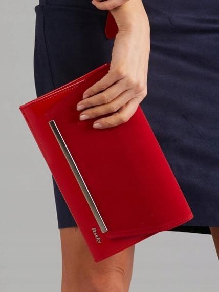 Kopertówka wizytowa lakierowana Rovicky W52 czerwona