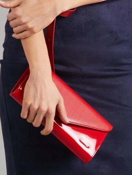 Kopertówka wizytowa lakierowana czerwona Rovicky W35