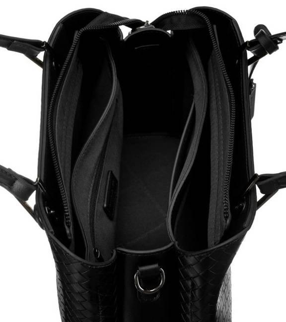 Kuferek czarny wzór pleciony David Jones CM6208A BLACK