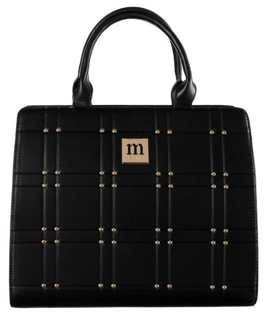 Kuferek czarny zdobiony ćwiekami Monnari BAG2210-20