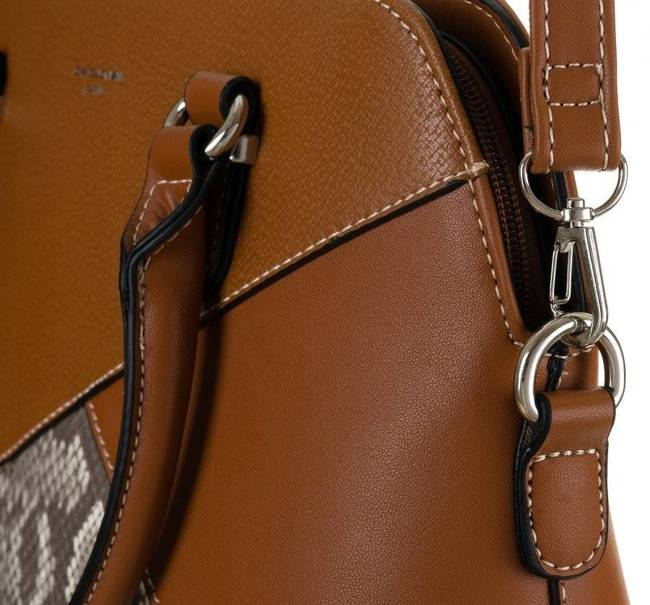 Kuferek damski koniakowy David Jones 6274-1 COGNAC