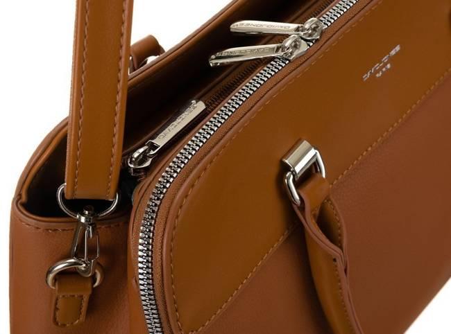 Kuferek damski koniakowy David Jones CM6063 COGNAC