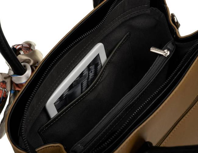 Kuferek khaki z ozdobną apaszką David Jones CM6214 KHAKI