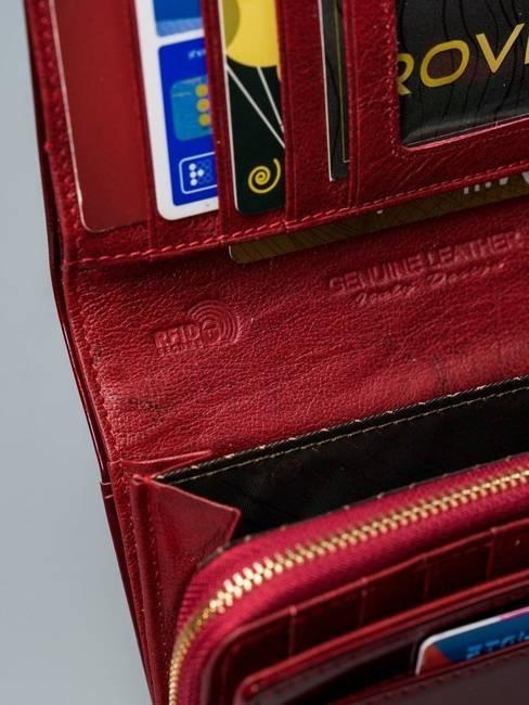 Lakierowany portfel czerwony Lorenti 76112-SH NAPIS RED