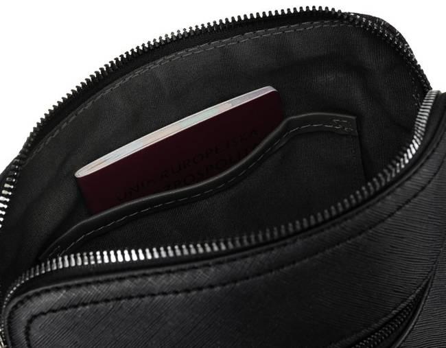 Listonoszka czarna krata David Jones 6622-1 BLACK