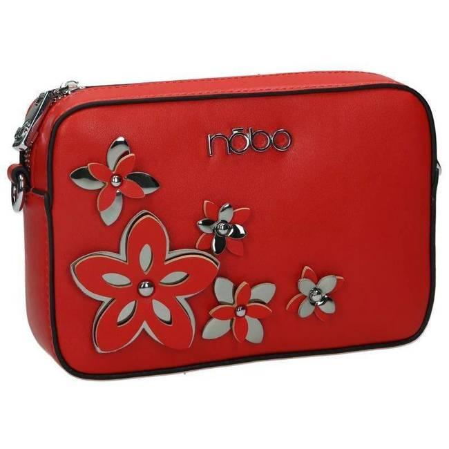 Listonoszka damska czerwona z kwiatami Nobo NBAG-E1600-C005