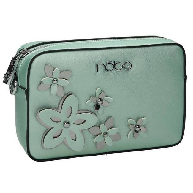 Listonoszka damska zielona z kwiatami  Nobo NBAG-E1600-C008