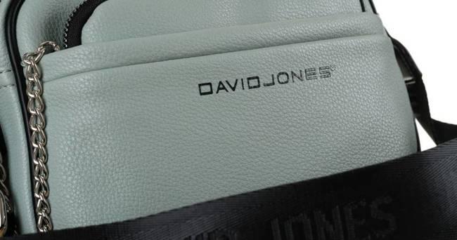 Listonoszka zielona z saszetką na łańcuszku David Jones 6529-3 APPLE GREEN