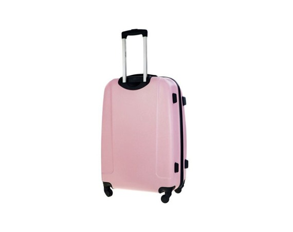Mała walizka kabinowa 55x35x22cm ABS STL856 różowa