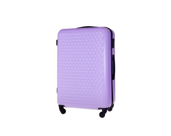 Mała walizka kabinowa 55x35x22cm ABS STL870 fioletowa