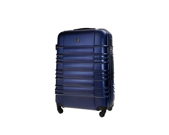 Mała walizka kabinowa ABS 55x37x24cm S STL838 granatowa