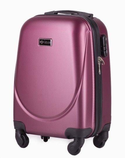 Mała walizka podróżna na kółkach (bagaż podręczny) SOLIER STL310 XS ABS burgundowa