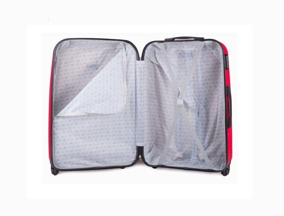 Mała walizka podróżna na kółkach (bagaż podręczny) SOLIER STL310 S ABS czerwona