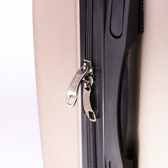Mała walizka podróżna na kółkach (bagaż podręczny) SOLIER STL310 XS ABS granatowa