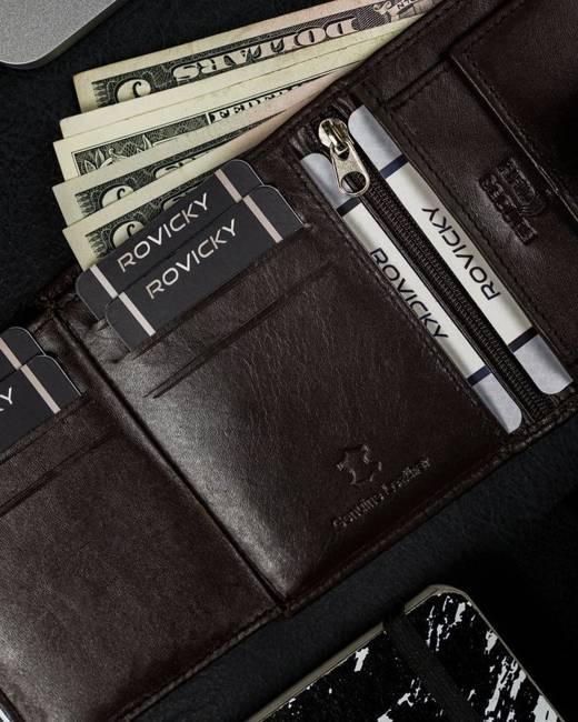Mały portfel c. brązowy Cavaldi  N0036L-SCR-CAV D.BRO